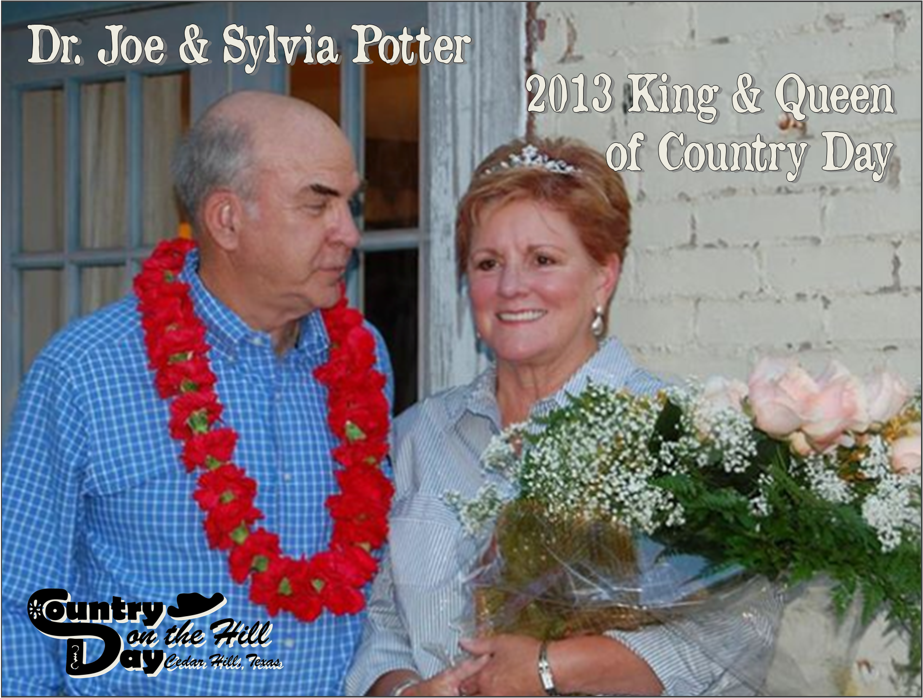 Dr. Joe and Sylvia Potter with their reward for being named King and Queen of Country Day.