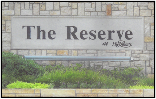 Reserve at High Pointe Sign