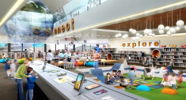 Library Concept - Children Discovery Explore Area