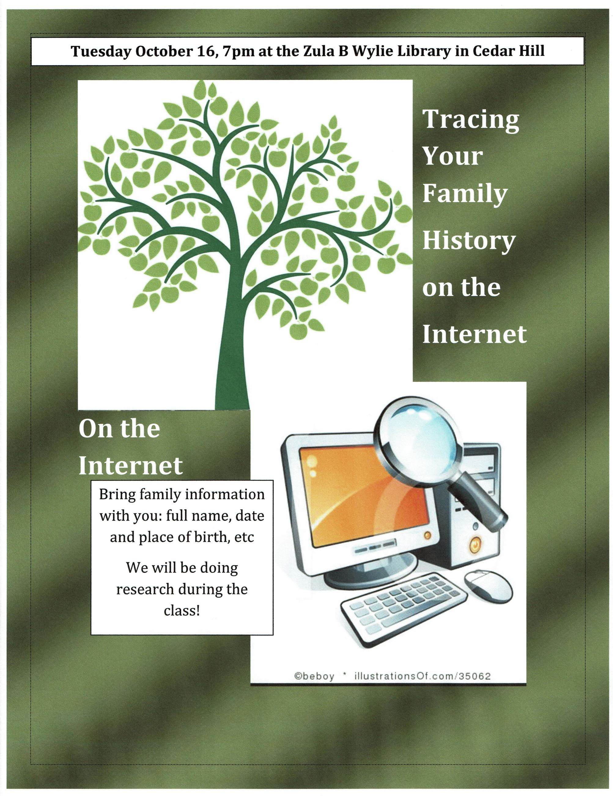 Tracing Your Family History on the  Internet October 2018 poster jpg_000010