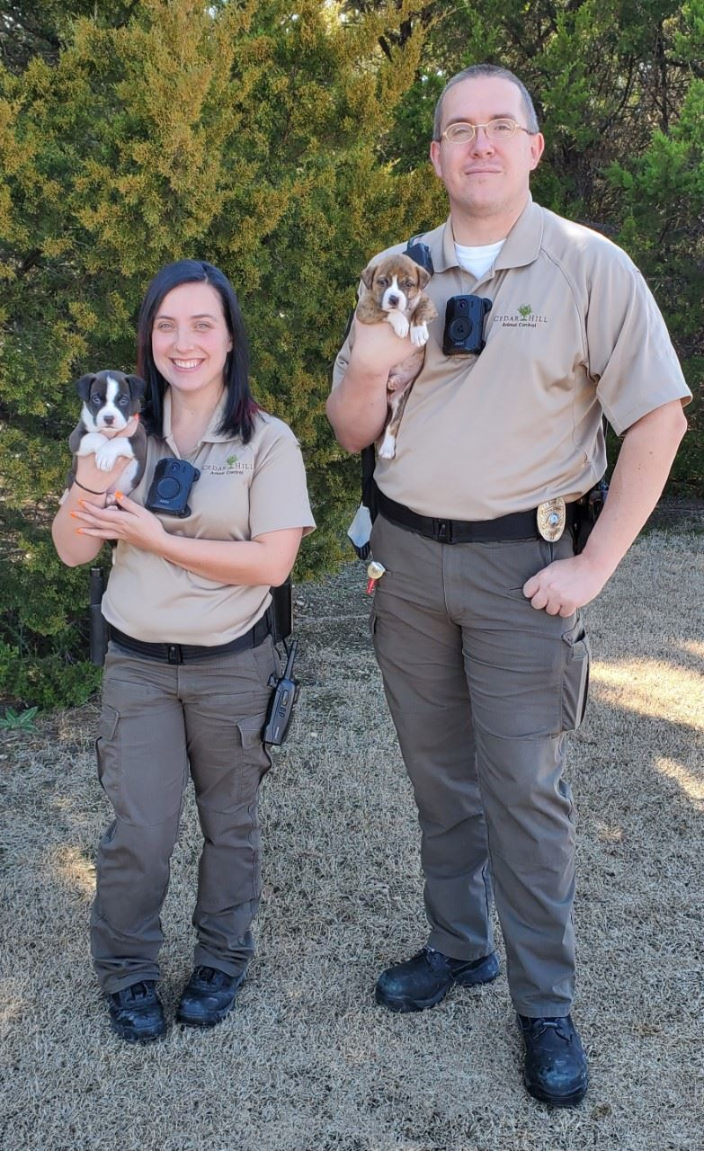 Animal Service Officer W/ Puppy