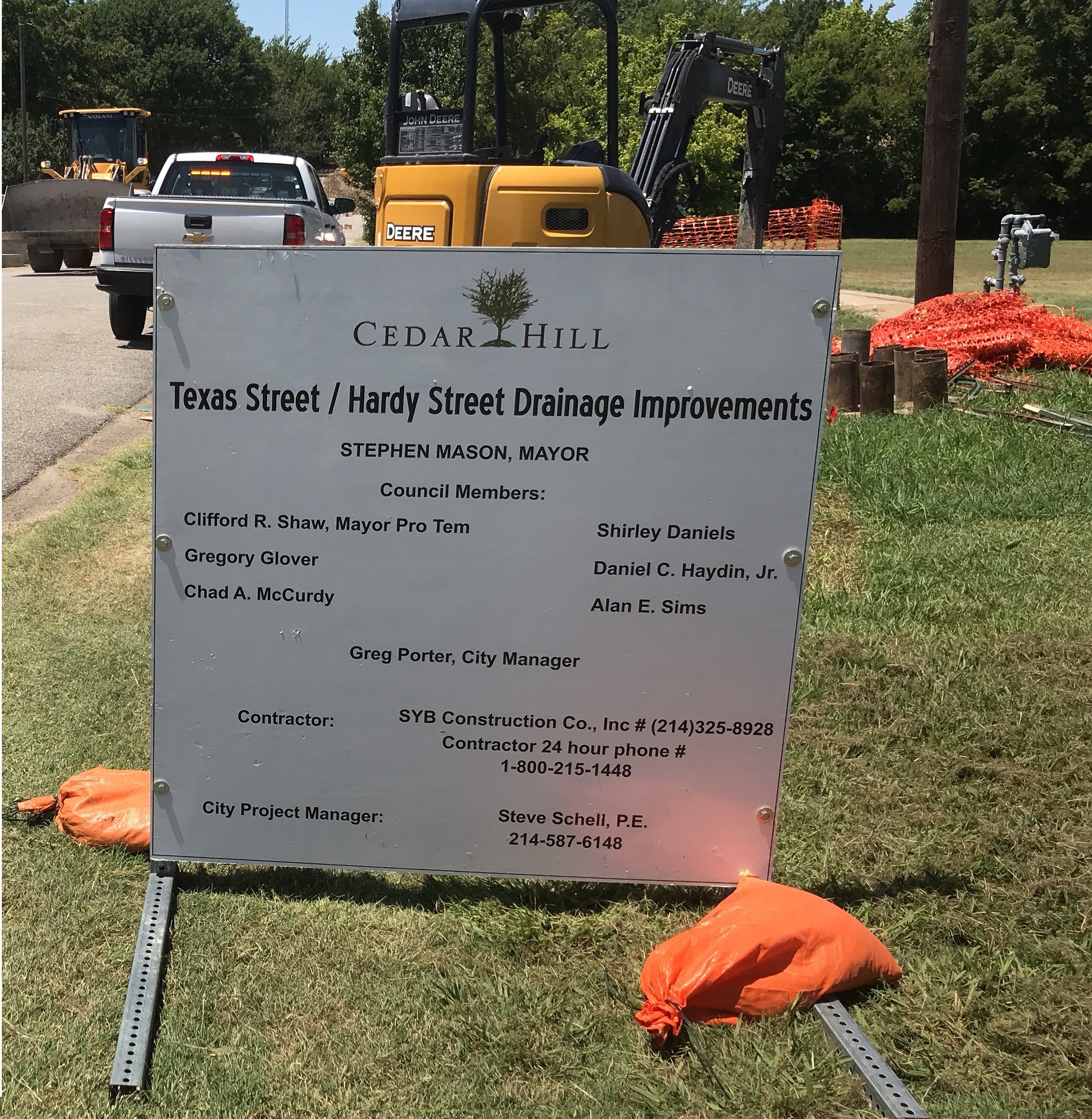Texas Hardy Project Sign JPG