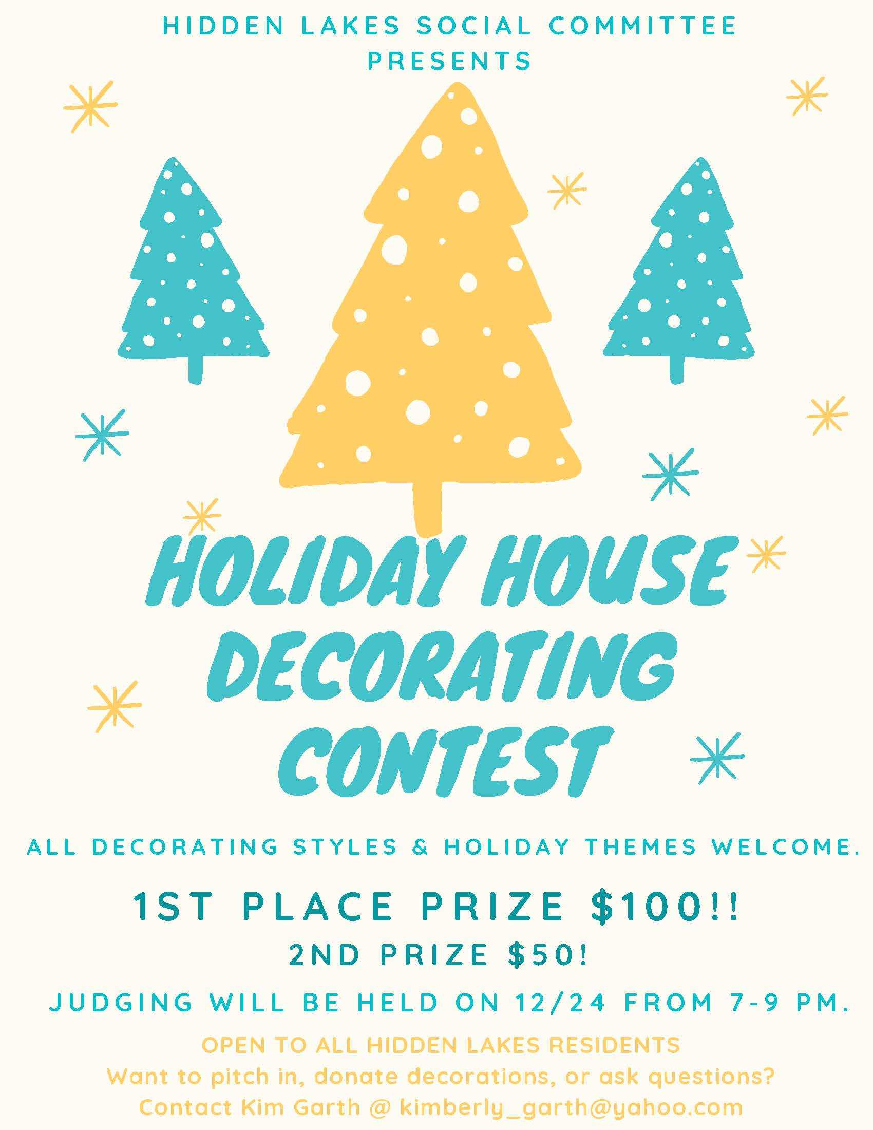 Hidden Lakes Holiday Contest