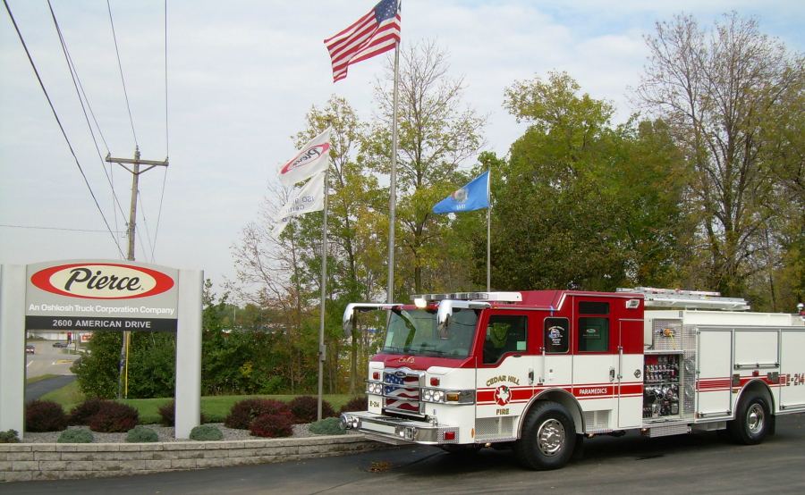 Engine 214 at Pierce