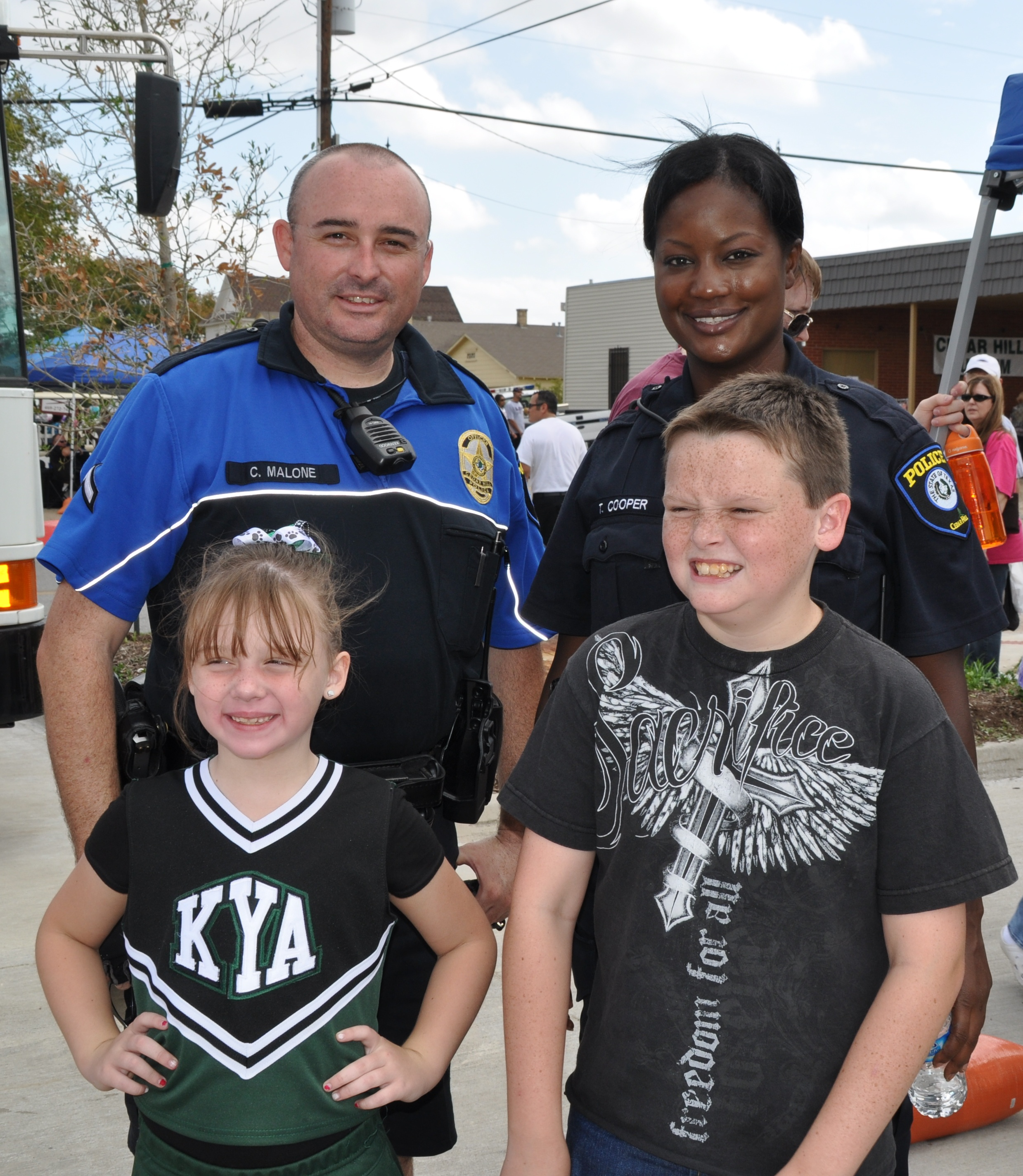 Kids and Officers