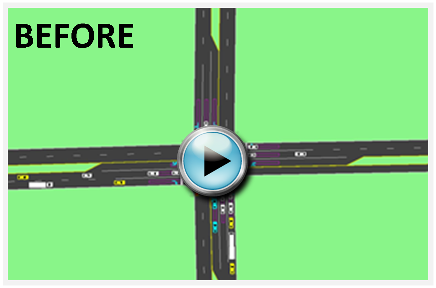 Right turn lane BEFORE animation