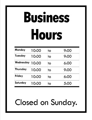 printable business hours sign juve cenitdelacabrera co