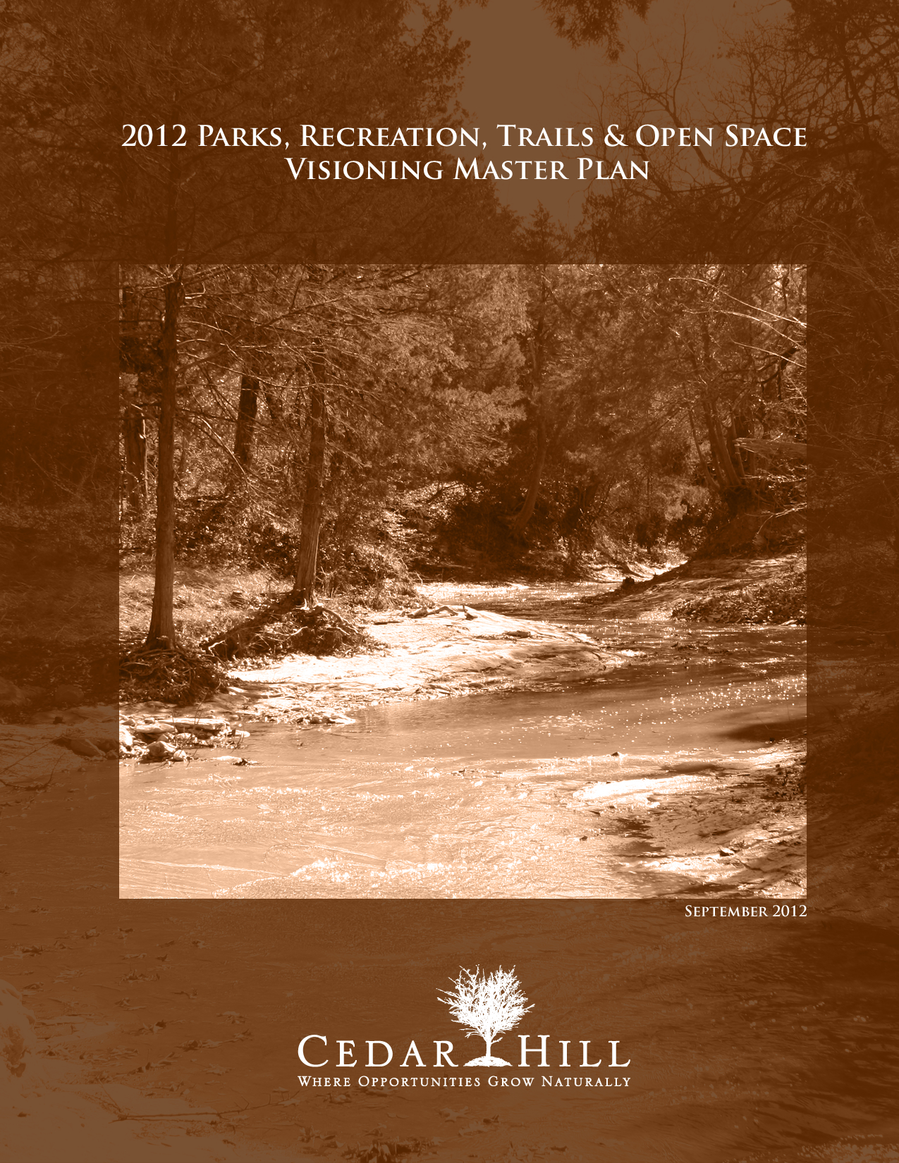 2012 Parks, Recreation, Trails and Open Space Visioning Master Plan Cover