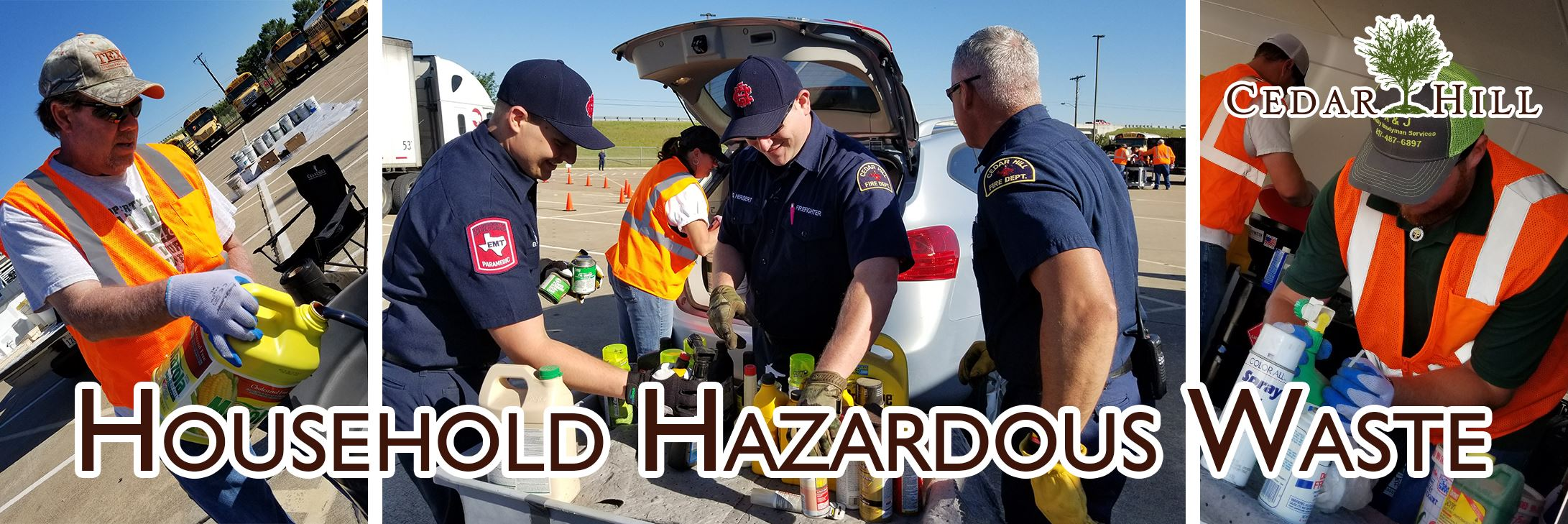 household hazardous waste cedar hill tx official website