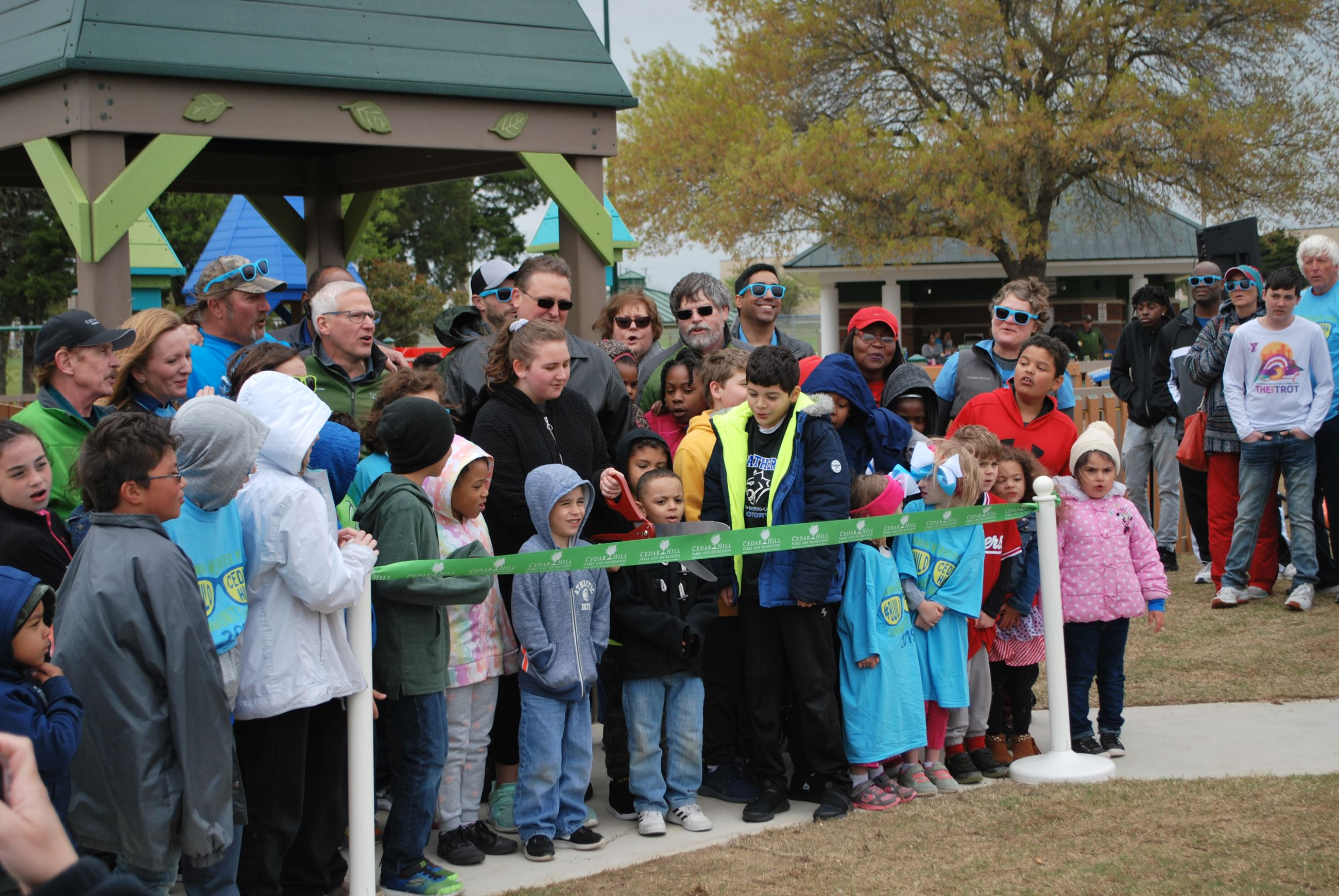 Virginia Weaver Playground Ribbon Cutting