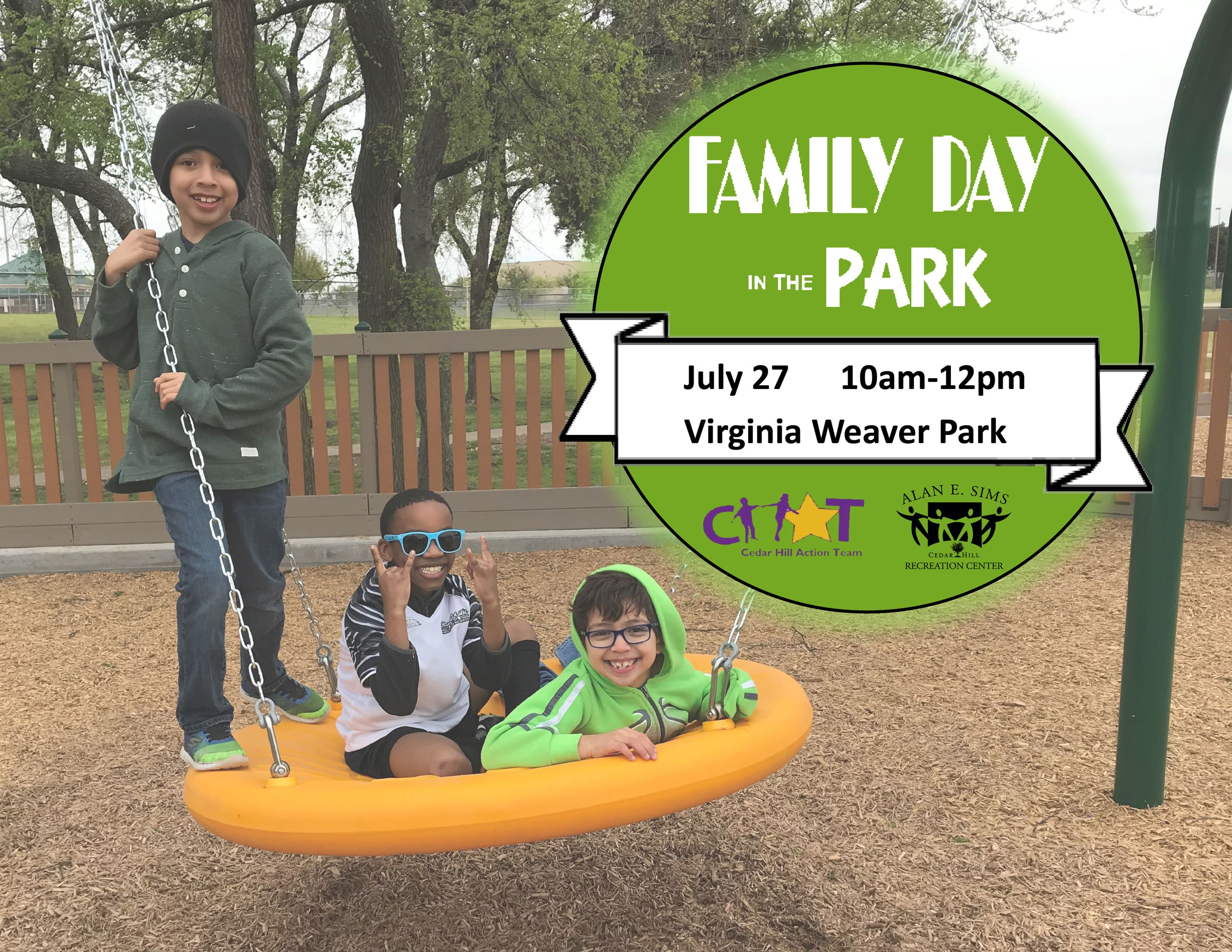 2019 family day in the park flyer