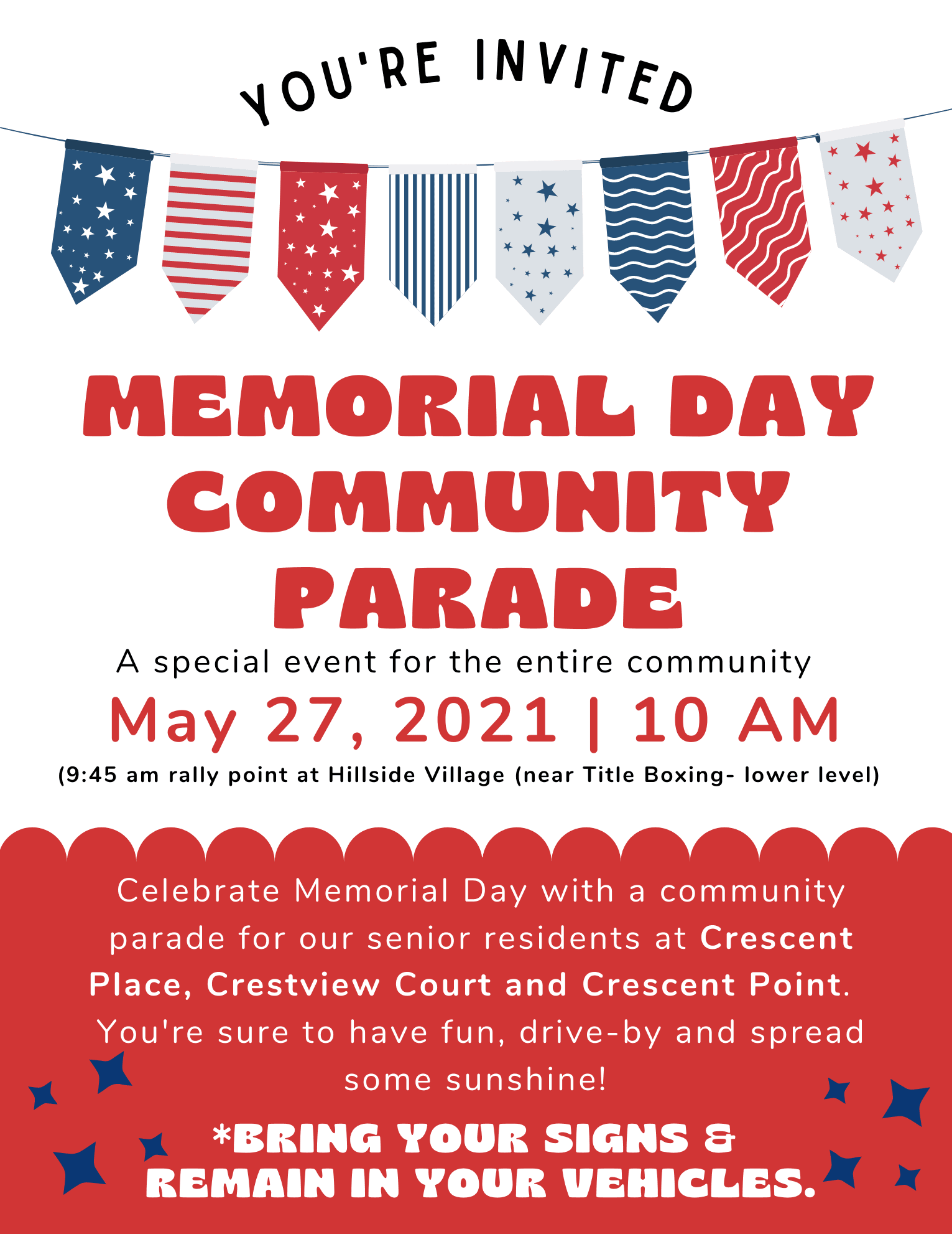 memorial day community parade