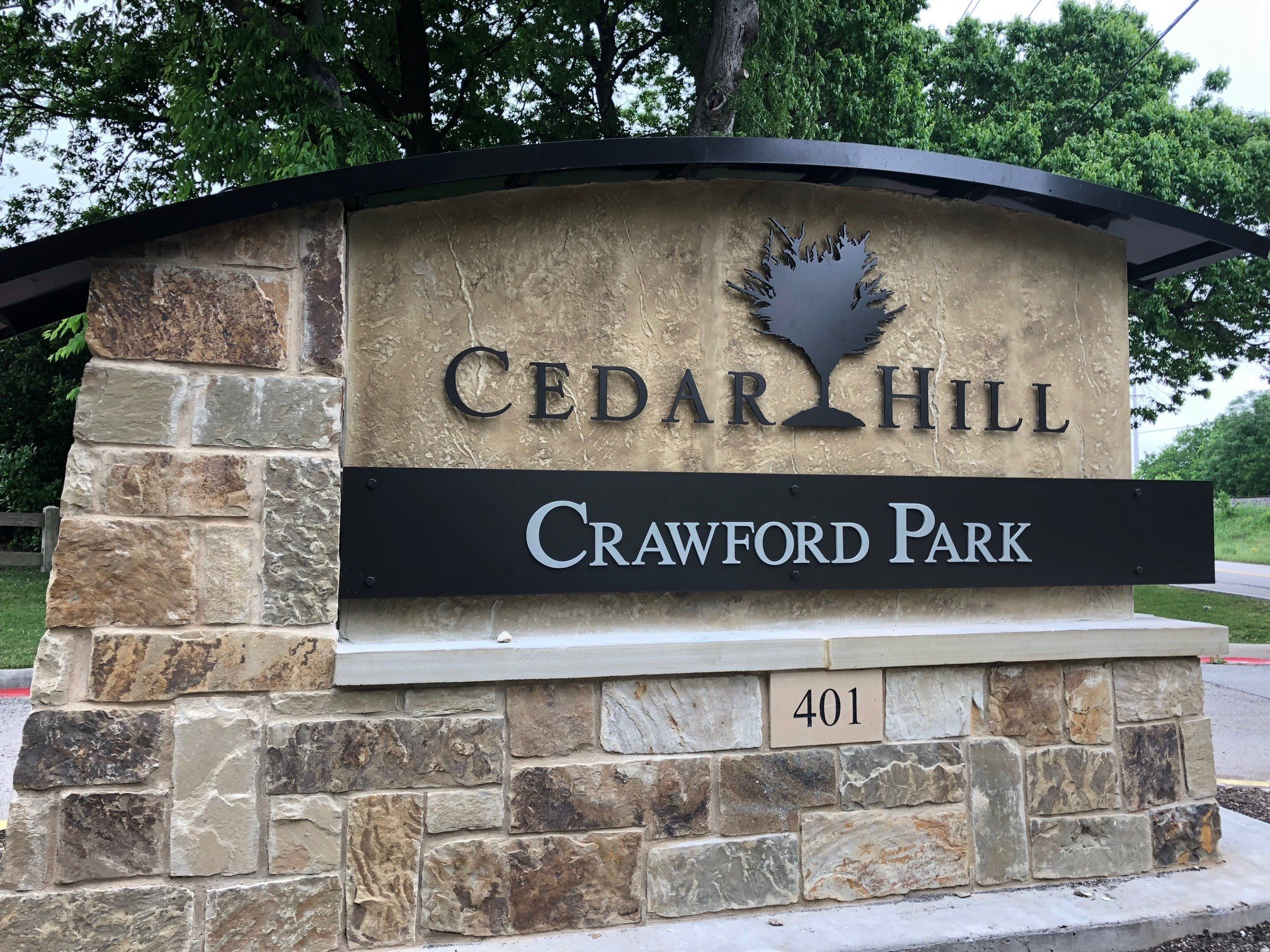Monument Sign at Crawford Park