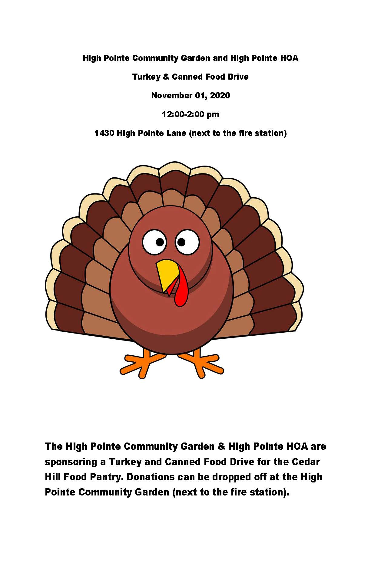 High Pointe Turkey Drive Flyer